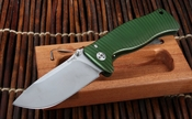 LionSteel SR1 Aluminum Green Integral Frame Folding Knife