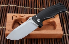 LionSteel SR1 Integral Black Aluminium Tactical Folding Knife
