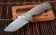 LionSteel SR1 Integral Titanium Folding Knife - Bronze Anodize