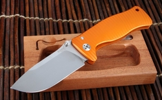 LionSteel SR1 Orange Aluminium Integral Folding Knife