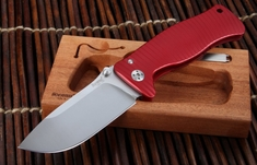 LionSteel SR1 Red Aluminium Integral Folding Knife
