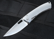LionSteel TiSpine Polished Titanium Folding Knife