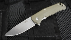 Lion Steel TRE - Green G10 Flipper Folding Knife