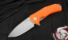 LionSteel KUR Flipper - Sleipner Steel - Bearing Pivot - Orange G-10