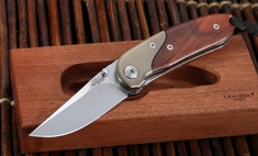 LionSteel MINI Cocobolo Wood Folding Knife
