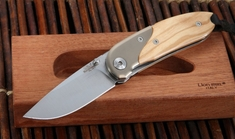LionSteel MINI Olive Wood Folding Knife - 8200 UL