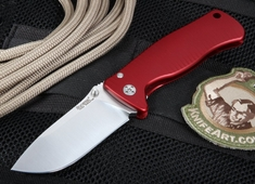 LionSteel SR2A-RS Red Anodized Aluminum Folding Knife