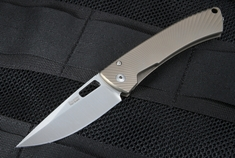 LionSteel TiSpine Bronze Matte Titanium Folding Knife