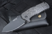 LionSteel TM1 CB Carbon Fiber with Black Blade 3.5""