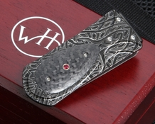 William Henry M3 Raven Zurich - Damascus Money Clip
