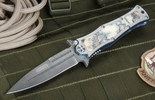 "Darrel Ralph Custom Madd Maxx 4"" Mammoth and Damascus Folding Dagger"