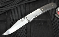 Mel Pardue Alabama Toothpick - Carbon Fiber and Damascus