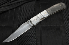 Mel Pardue Custom Carbon Fiber and Damascus Toothpick