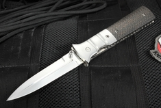 Mel Pardue Custom Lightning Strike Carbon Fiber Tactical Folding Dagger