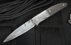 Mel Pardue Damascus and Carbon Fiber Dress Tactical
