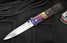 Mel Pardue Pirogue Fluted African Blackwood Folding Dagger