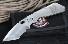 Mick Strider Custom XL Nightmare Grind Harpoon Folding Knife