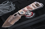 Mick Strider Starlingear Custom Blued Damascus Nightmare Harpoon SMF XL