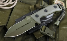 Microtech Crosshair Green Fixed Blade Knife - OUT OF STOCK