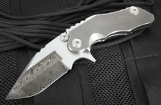 Mikkel Willumsen Custom CWC Satin Flats Damascus Flipper