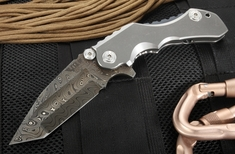 Mikkel Willumsen Custom Tyran Flipper Folder - Damascus