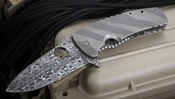 Mikkel Willumsen Exclusive Legion Folding Knife - Damascus and Titanium - SOLD