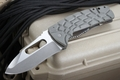 Mikkel Willumsen Exclusive LegionTactical Folding Knife - Carved Grey G-10 - SOLD