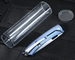 LionSteel Tispine TS1-VS Blue Polished Integral Titanium Knife with Elmax Steel
