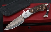 William Henry B12 Island Palm - Damascus Folding Knife