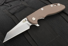 "Rick Hinderer XM-18 3.5"" Wharncliffe Brown G-10 Folding Knife"