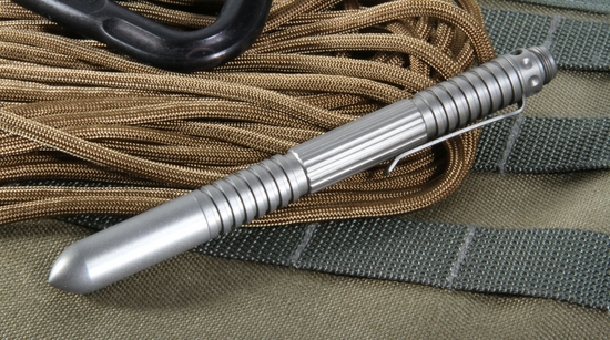 Rick Hinderer Extreme Duty Pen - Blasted Titanium - Tactical Pen