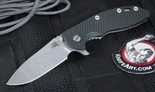 "Rick Hinderer Gen 4 XM-18 3 1/2"" Slicer Black and Green G-10 Folding Knife"