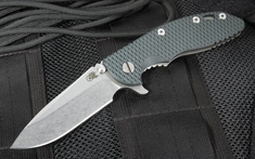 "Rick Hinderer Gen 4 XM-18 3.5"" Spearpoint Black and Blue G-10"
