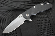 "Rick Hinderer XM-18 3.5"" Black Flipper - Spanto - Battle Blue"