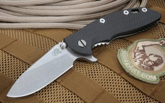 "Rick Hinderer XM-18 3.5"" Black Slicer Grind Folding Knife"