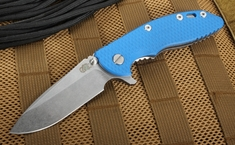 "Rick Hinderer XM-18 3.5"" Blue Flipper - Spearpoint S35VN Steel"