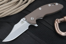 "Rick Hinderer XM-18 3.5"" Bowie Blade - Brown"
