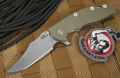"Rick Hinderer XM-18 3.5"" Bowie Blade - OD Green - S35VN Steel"