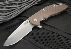 "Rick Hinderer XM-18 3.5"" Brown Flipper - Spearpoint S35VN Steel"