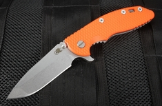 "Rick Hinderer XM-18 3.5"" S35VN Spanto Flipper - Orange"