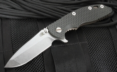 "Rick Hinderer XM-18 3.5"" Spanto Flipper - Black and Green"