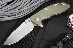 "Rick Hinderer XM-18 3.5"" Spanto - Green and Battle Bronze"