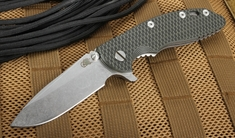 "Rick Hinderer XM-18 3.5"" Spearpoint - Black and Green - S35VN Steel"