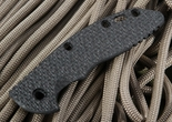 "Rick Hinderer XM-18 3.5"" Textured Black Carbon Fiber Handle Scale"