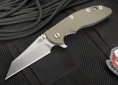 "Rick Hinderer XM-18 3.5"" Wharncliffe Blade OD Green G-10 Folding Knife"