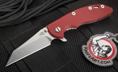"Rick Hinderer XM-18 3.5"" Wharncliffe Blade Red G-10 Folding Knife"