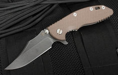 "Rick Hinderer XM-18 3.5"" Bowie Brown DLC Folding Knife"