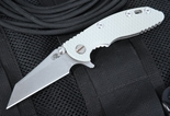 "Rick Hinderer XM-18 3"" Grey G-10 Wharncliffe Grind Flipper"
