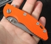 "Rick Hinderer XM-18 3"" Slicer Tactical Flipper - Orange G-10"