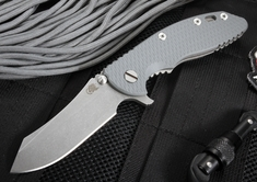 """Rick Hinderer XM-18 3.5"""" Skinner - Grey - Working Finish Blade and Handle"""